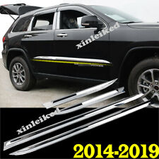 4p For Jeep Grand Cherokee 2014-18 ABS Chrome Side Body Molding Cover Trim