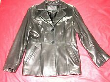 LEATHER LIMITED WOMEN'S BLACK LEATHER JACKET/BLAZER GLOVE SOFT LEATHER Size L
