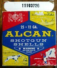 Vintage Alcan 12GA. Shotgun 25 Shells Smokeless Powder Box Trapmax *Empty