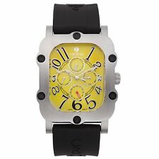 Croton Men's CN307529BSYL Industrial Stainless Steel Black Resin Watch