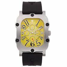 Croton Men's CN307529BSYL Industrial Stainless Steel Black Resin Watch
