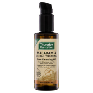 Thursday Plantation Macadamia Face Cleansing Oil 125mL Ultra Hydrating Dry Skin