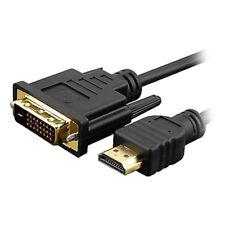 J16 5m HDMI auf DVI 24+1 Stecker AV Audio Video Kabel f TV DVD Beamer Laptop PC