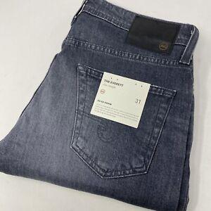 AG Adriano Goldschmied Men's Everett Slim Straight Black Gray Denim Jeans New