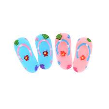 1 Paar Puppenhaus Miniatur Badezimmer Wohnzimmer Schuhe hausschuhe PopZP