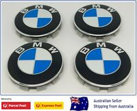 4x BMW Emblem Logo Badge Metal Hub Wheel Rim Center Cap 68mm Fit All Series NEW
