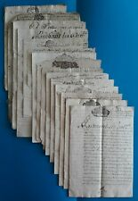 Lyon - Dombes - Chanzieu - noblesse - famille Bollioud - lot documents 17e/18e