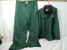 Rain Gear Jacket/Pants DRIFLEX Stearns SIZE XXL Nylon Rainsuit Forest Green