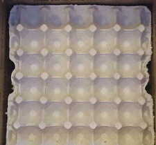 20 Chicken Egg Trays Pulp Flat 30 Ct Crafts Eggs Hatching Used Once Clean 3