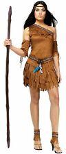 Pocahontas Adult Costume Dress One-Shoulder Halloween FW121694
