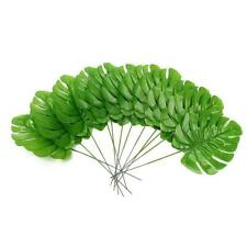 Large Artificial Leaf Home Decor Green Leaves Faux Palm Plant Foliage Fake Fern