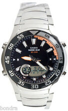 Casio AMW710D-1A Men's Marine Gear Watch Steel Moon and Tide Graph Ana Digl New