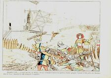 PLANCHE COULEUR 19è JEANNE D' ARC MARCHE SUR REIMS TROYES REFUSANT OUVRIR PORTES