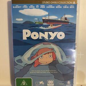 Ponyo DVD 2008 2-Disc R4 Cate Blanchett Very Good Ghibli Miyazaki Free Postage