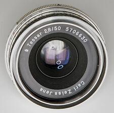 1960's Vintage Carl Zeiss Jena Tessar 50mm f2.8 Praktina Lens declicked