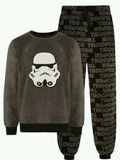 DISNEY Star Wars Darth Vader Mens Fleece FLUFFY Pyjama Set PJS Primark UKXS GREY