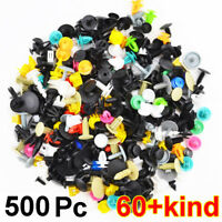 500X Plastic Auto Car Fastener Rivet Clip Screws Bumper Door Trim Panel Push Kit