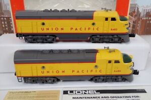 Lionel O Gauge No.8480 & 8482 Union Pacific F-3 AA Unit Diesel Engine Set In Box