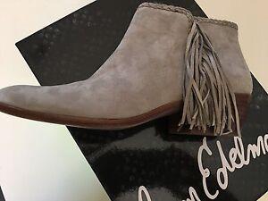 New Sam Edelman Woman Ankle Boots Size 7 w/side Fringe