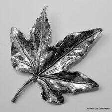Hoja De Peltre Broche Pin-British Artisan Firmado Insignia-de arce canadiense de Canadá