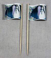 Party-Picker Hochzeit (1) Brautpaar 50 Stk. Dekopicker Käsepicker Food Flagge