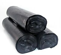 55 Gallon Thick Black Drum Liner Trash Garbage Bags 90 Ct LDPE - FREE PRIORITY