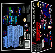 The Lawnmower Man - SNES Reproduction Art Case/Box No Game.