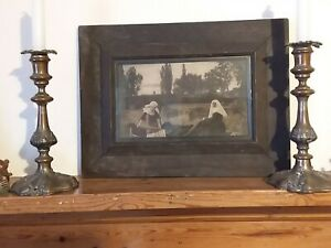 Vintage Picture in Frame - VALE OF REST - UNTOUCHED - GOTHIC - 17 X 11