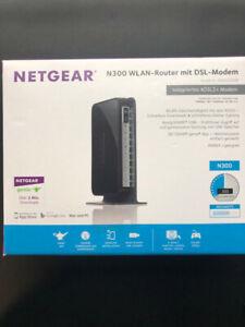 """NETGEAR N300 WLAN+DSL Router """"neu"""""""