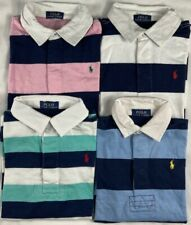 GENUINE Polo Ralph Lauren Boys Rugby Shirt Striped AGE 2,3,4,5,6,7,8,10,12,14,16