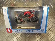 NEW BURAGO DIECAST MOTORCYCLE MODEL BENELLI TNT R160 SCALE 1:18