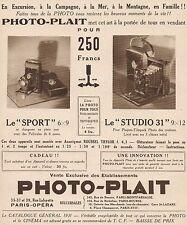 Y9243 Apparecchi fotografici PHOTO-PLAIT - Pubblicità d'epoca - 1931 Old advert