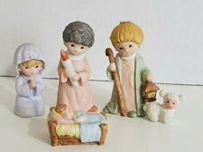 Vintage Homco Christmas Nativity 5 pc Set #5602 Mary Joseph Jesus Shepherd Lamb