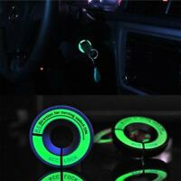 Car Stickers LED Luminous Key Ring Ghost Fire Pedal Car Decal Change Decor Film