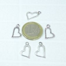 115 Colgantes Corazon 19mm T396X Plata Tibetana Charms Pendentif Encanto Heart