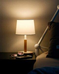 Nachttischlampe Dimmbar aus Holz, Moderne Stil LED Tischlampe Schreibtischlampe