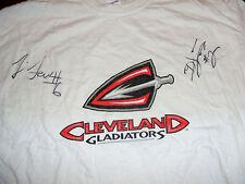 Cleveland Gladiators SIGNED #2 #6 T-Shirt White XL AFL Arena Football Autographs