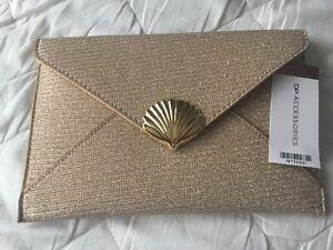 DP Rose Gold Shell Clutch Bag