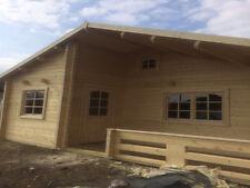 MANOR LOG CABIN - 5.9m x 5.7m - Summer House, Garden Building, Home Office 70mm