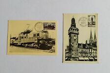 France - Lot de 2 cartes Maximum France - timbres YT No 1024-1025