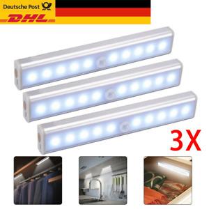 3X LED Unterbau-Leuchte Lampe Küche Batterie Sensor Licht-Leiste Schrankleuchte