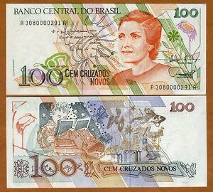 Brazil, 100 Cruzados Novos, ND (1989), P-220a, UNC