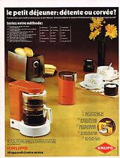 PUBLICITE  1972   KRUPS   cafetière