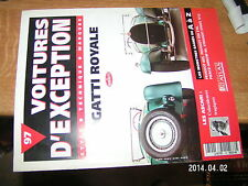 Voitures d'exception n°97 avec poster 4 pages Bugatti Royale / Ascari Pierce...