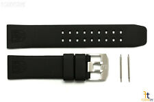 Luminox Colormark 3050 3080 23mm Black Rubber Watch Band w/2 Pins 3150 3180