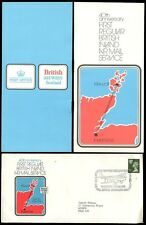 SCOTLAND 1974 INLAND AIRMAIL SERVICE 3 1/2p ILLUSTRATED COVER + PMK + BOOKLET L2