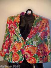 Womens Bandolino Stretch Pink Green Orange Blue Floral Blazer Church Career 18W