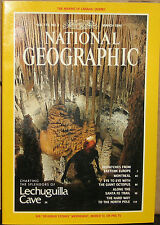 NATIONAL GEOGRAPHIC MARCH 1991 LECHUGUILLA CAVE;MONTREAL;OCTOPUS;SANTA FE TRAIL