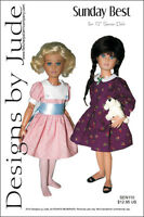 """Sunday Best Dress Doll Clothes Sewing Pattern for 12"""" Senson Dolls"""