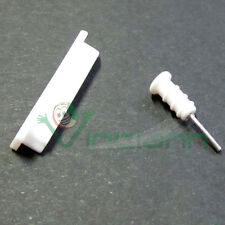 CAP stopper ANTI DUST Corks white matt milk for iPad iPhone 3Gs 4 4s